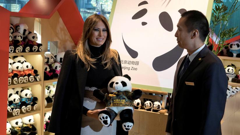 '¡Digan whisky!': Un panda no quiso perderse la foto con Melania Trump