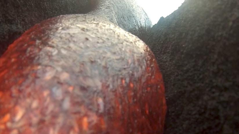 Una cámara GoPro sobrevive a un baño de lava y graba un impresionante video