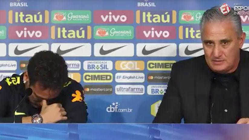 VIDEO: Neymar estalla en lágrimas durante una conferencia de prensa