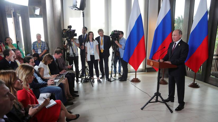 Putin califica de ataque a la libertad de expresión las medidas de EE.UU. contra los medios rusos