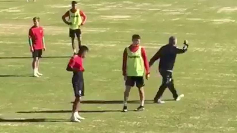 VIDEO: El violento método de un entrenador español para motivar a sus jugadores