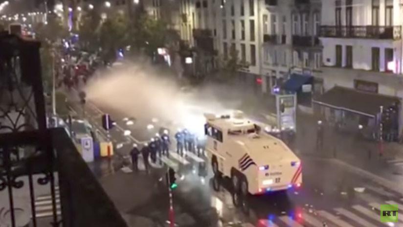 Resultado de imagen de disturbios en bruselas imagenes