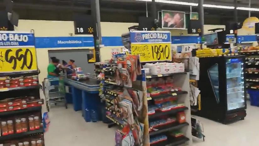 VIDEO: Así se sintió el sismo de Costa Rica en el interior de un supermercado