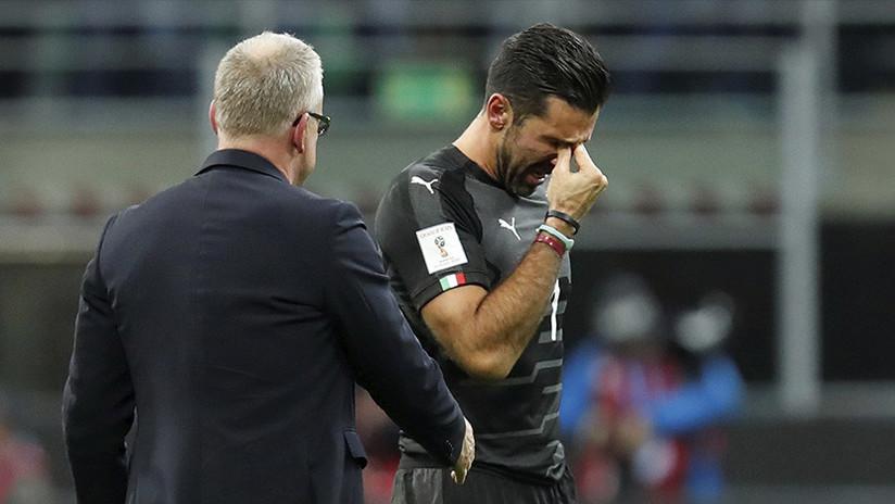 VIDEO: Las lágrimas de Gianluigi Buffon luego de que Italia se quedara afuera del Mundial 2018