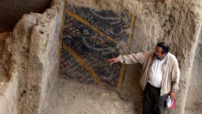 VIDEO: Mural de más de 4.000 años de antigüedad queda arrasado por un incendio en Perú