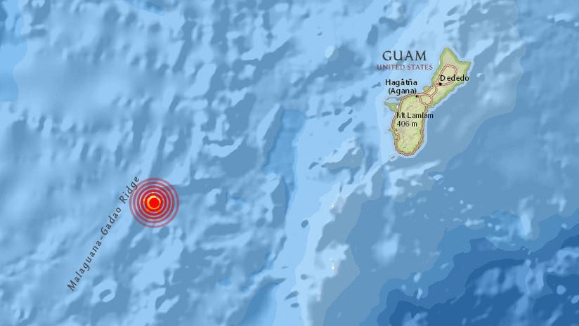 Un terremoto de magnitud 5,8 se produce cerca de la isla de Guam