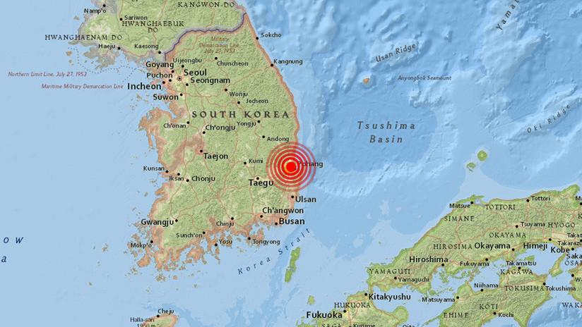 Un sismo de magnitud 5,5 se registra en el sureste de Corea del Sur