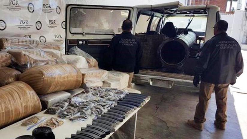 México: Detienen una camioneta que lanzaba droga a EE.UU. con una 'bazuca' (FOTO)