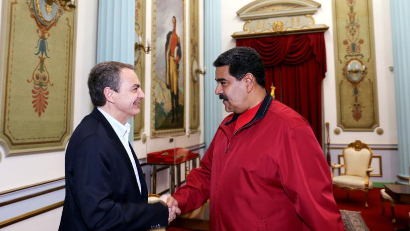 Maduro se reúne en Caracas con el expresidente español Jose Luis Rodríguez Zapatero