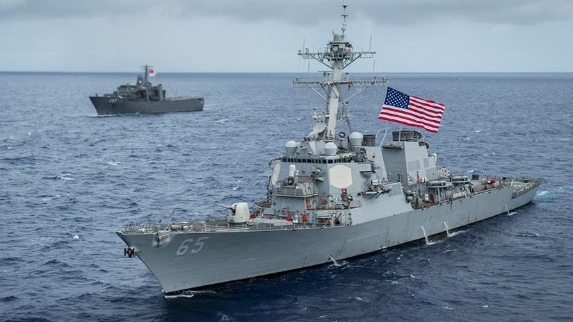 Quinto accidente naval de la Armada de EE.UU. en 2017: Remolcador japonés choca contra un destructor