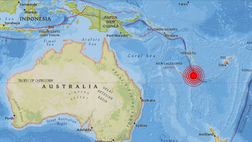 Dos fuertes terremotos de magnitud 6,6 y 6,4 sacuden Nueva Caledonia en el Pacífico