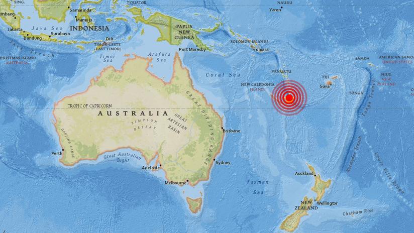 Fuerte terremoto de magnitud 7,0 y alerta de tsunami en el sudoeste del océano Pacífico
