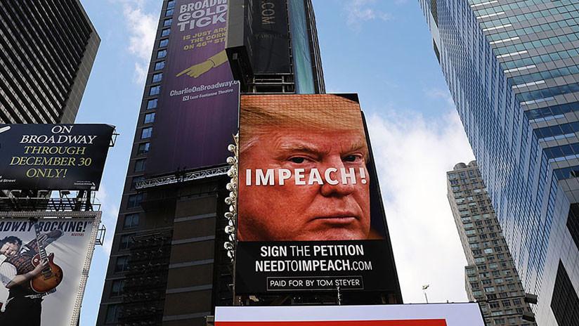 El cartel publicitario 'Destituyamos a Trump' invade Nueva York