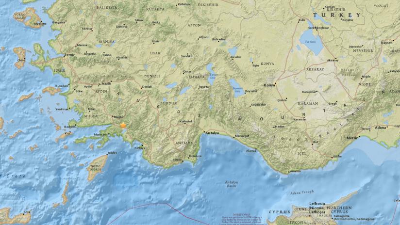Terremoto de magnitud 5 sacude el suroeste de Turquía