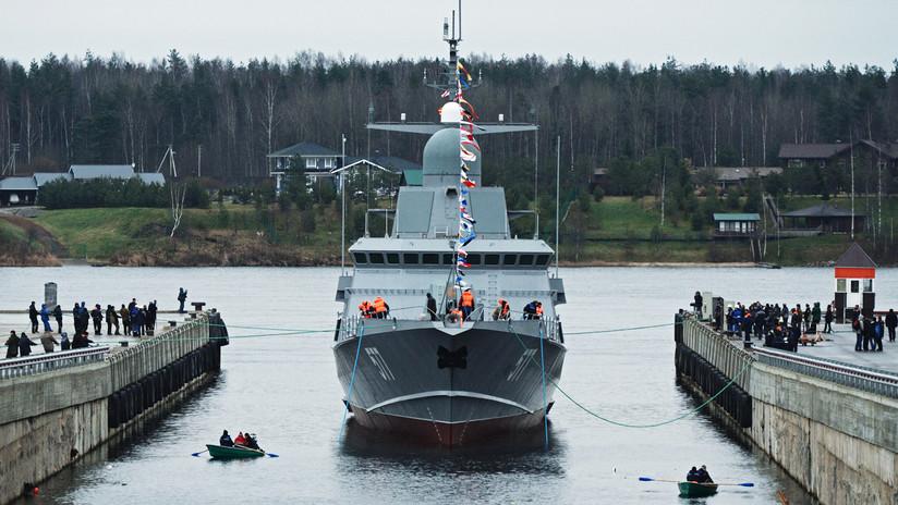 Pequeña, rápida y peligrosa: botan en San Petersburgo la corbeta de misiles Taifún (VIDEO, FOTO)