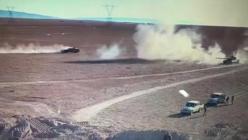 VIDEO: El explosivo duelo entre un tanque iraquí y un coche bomba terrorista