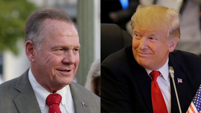 Trump apoya al candidato al Senado Roy Moore, acusado de acoso sexual a menores