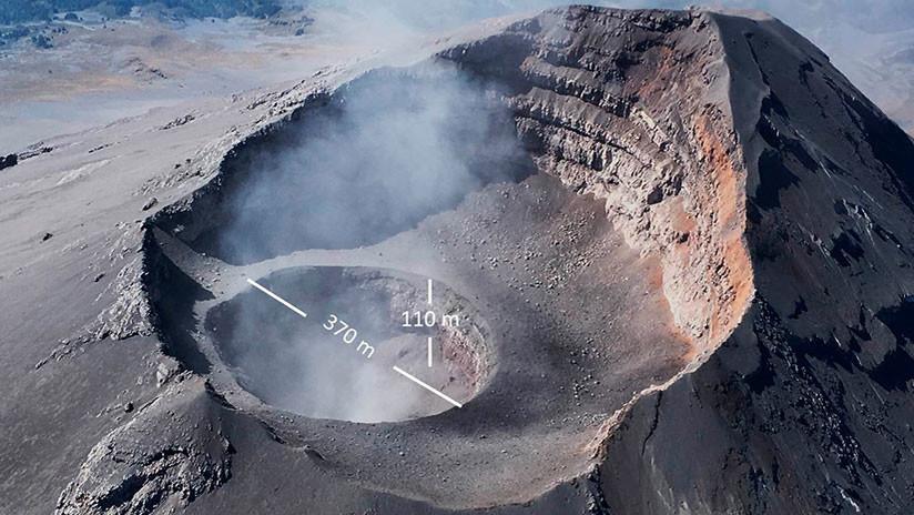 VIDEO: Aumenta el cráter interno del volcán Popocatépetl