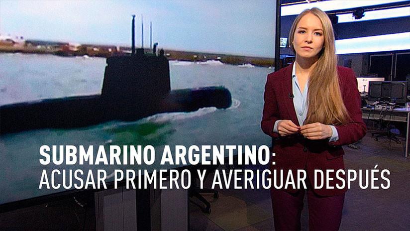 El submarino desaparecido: Acusar primero y averiguar después