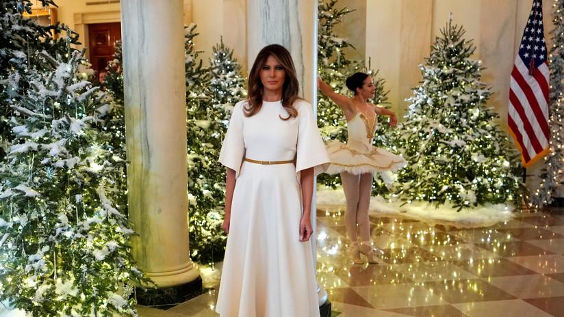 Melania Trump iluminó la Casa Blanca de navidad