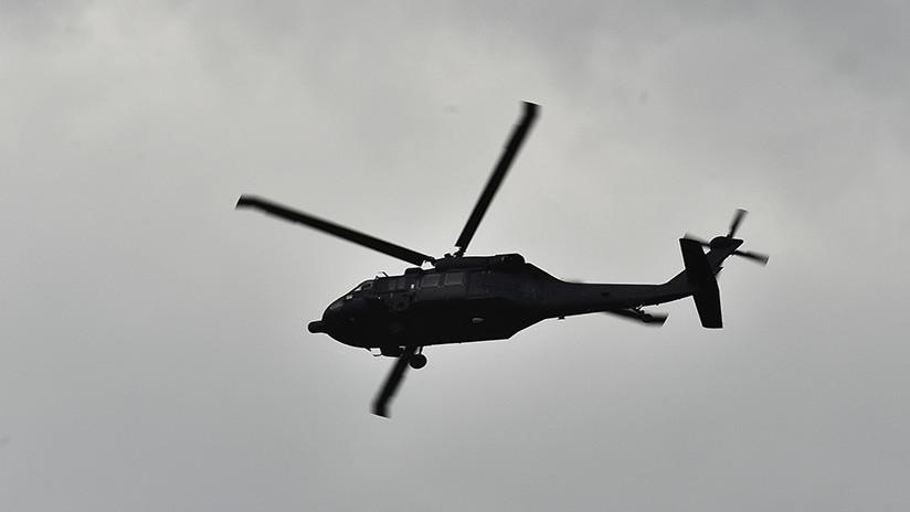 Se desploma un helicóptero del Ejército mexicano cuando fumigaba plantaciones de amapola