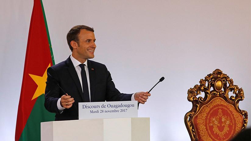 """VIDEO: Macron """"humilla"""" a su par de Burkina Faso y elimina luego partes del video de su discurso"""