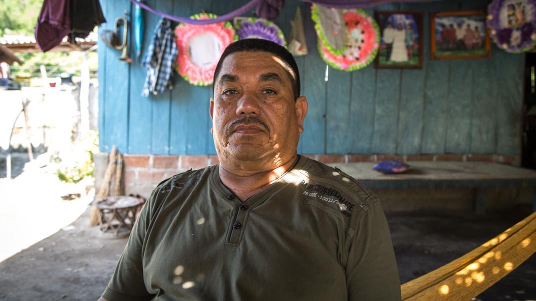 Juan García, uno de los comuneros más activos en defensa del territorio