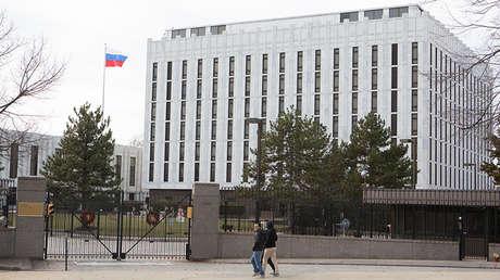 La Embajada rusa en Washington.
