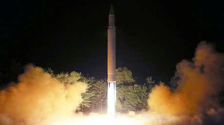 """El 4 de julio Corea del Norte realizó su primer lanzamiento del misil balístico intercontinental """"Hwaseon-14"""