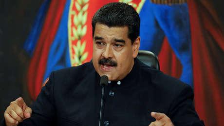 El presidente de Venezuela, Nicolás Maduro, durante una conferencia de prensa en el Palacio Miraflores en Caracas, Venezuela el 17 de octubre de 2017.