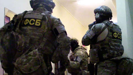 Agentes del FSB en un operativo antiterrorista en Moscú.