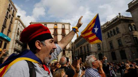 Una de las múltiples manifestaciones independentistas que han tenido lugar en los dos últimos meses en Cataluña.