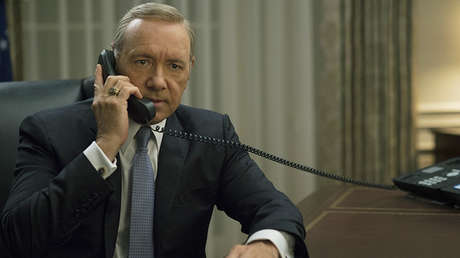 Captura de pantalla de la serie 'House of Cards' con Kevin Spacey.