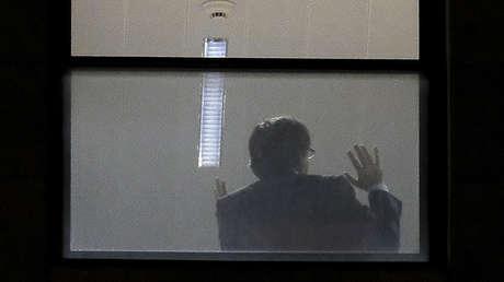 Carlos Piugdemont en el interior de la oficina de la Fiscalía en Bruselas, el 5 de noviembre de 2017.