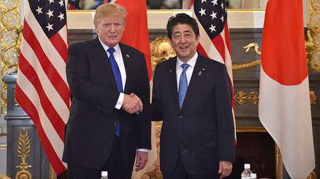 El presidente de EE.UU., Donald Trump, y el primer ministro de Japón, Shinzo Abe.