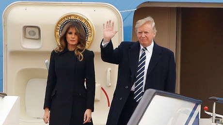 Trump llega a Pekín acompañado de la primera dama