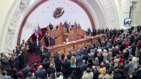 El presidente de Venezuela, Nicolás Maduro, durante una sesión de la Asamblea Nacional Constituyente.