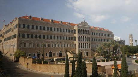 El palacio del Gobierno libanés en Beirut.
