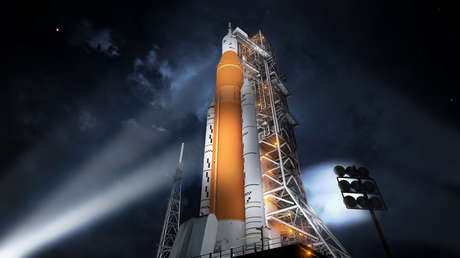 El cohete superpesado Space Launch System.