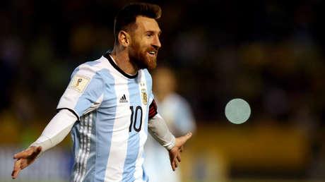 Lionel Messi durante las eliminatorias de la Copa Mundial 2018.