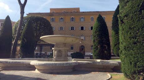 El Palacio de San Carlo, en la parte del Vaticano cerrada para el acceso libre del público