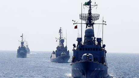 Buques de guerra durante un ejercicio de la Real Armada Saudita, el 9 de octubre de 2016.