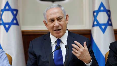El primer ministro de Israel, Benjamín Netanyahu, reunido con su gabinete en Jerusalén, 12 de noviembre de 2017.