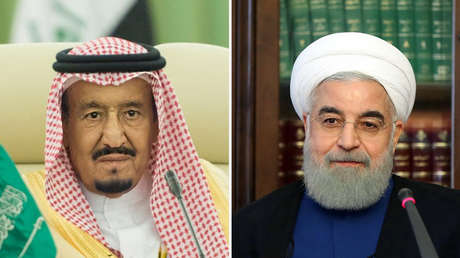 El rey saudí, Salmán ben Abdelaziz (izquierda); el presidente iraní, Hasán Rohaní (derecha).
