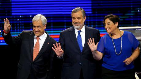 Los tres principales candidatos presidenciales Sebastián Piñera, Alejandro Guillier y Beatriz Sánchez