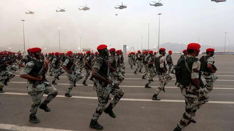Miembros de las fuerzas de seguridad saudíes.
