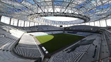 Estadio de la ciudad rusa de Nizhni Nóvgorod que acogerá los partidos del Mundial 2018, el 19 de septiembre de 2017.