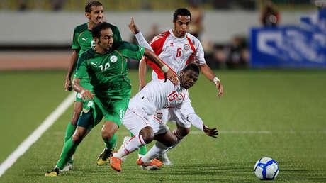 Imagen del partido disputado entre Arabia Saudita y EAU en la edición de la Copa de Naciones del Golfo celebrada en 2010.