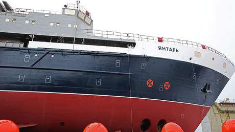 Ceremonia de la botadura de la nave oceanográfica rusa Yantar, 2012.