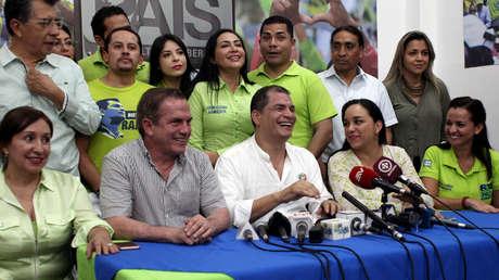 Conferencia de prensa de Rafael Correa en la sede de AP, Guayaquil, Ecuador, 25 de noviembre de 2017.